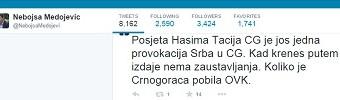 Edhe Medojeviq kundër vizitës së Thaçit