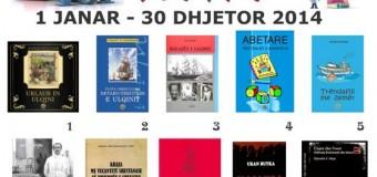 Ja 10 librat më të shitura në Ulqin për vitin 2014