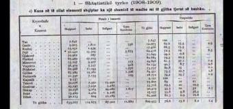 Statistikë turke e vitit 1908: Tuzi 100%, Gucia 82,6% kurse në Rozhajë 86,5% të banorëve ishin shqiptarë