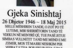 IN MEMORIAM – NË KUJTIM TË GJEKË SINISHTAJ (1946-2015)