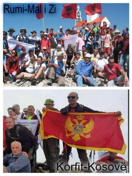 Pelegrinazh ilir në majën e Rumisë Mali-i-zi-rumi-korfit