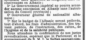 Le Figaro (1909): Shtatë kërkesat shqiptare drejtuar Parlamentit dhe Qeverisë së Perandorisë Osmane