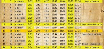 Filloi muaji i Ramazanit – Ja orari i agjerimit