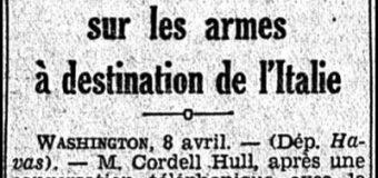 Le Matin (1939) : Kur presidenti amerikan Roosevelt dhe Sekretari i Shtetit Cordell Hull përgatiteshin për të ndëshkuar Italinë për shkak të pushtimit të Shqipërisë