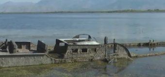 Ulet ndjeshëm niveli i Liqenit të Shkodrës, zbulohet anija luftarake e 100 viteve më parë (video)