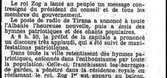 Le Temps (1939): 5 prilli, ditëlindja e princit trashëgimtar, Leka Zogut, shpallet festë kombëtare