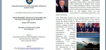 AMBASADORI XHEJMS PËRDU: PAJTUESI I BALLKANIT -(Me rastin e 10-vjetorit të Pavarësisë së Kosovës)