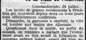 """Le Petit Parisien (Korrik, 1912): """"Prishtina është e shqiptarëve"""""""