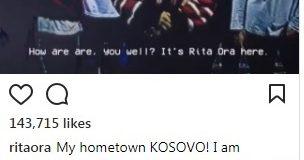 Videoftesa e Rita Orës për koncertin e përvjetorit të pavarësisë së Kosovës