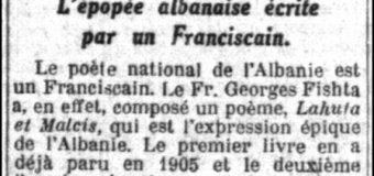 """La Croix (1930)/ """"Lahuta e Malcis"""" e At. Gjergj Fishtës, poema që rrëfen epopenë shqiptare"""