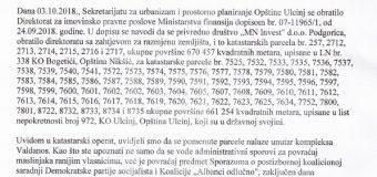 Forca i drejtohet kryeminstrit të Malit të Zi Dushko Markoviq për Valdanosin, ja shkresa