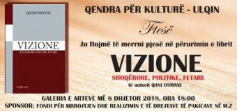 """Të shtunën përurohet libri """"Vizione"""" të autorit Qani Osmani"""
