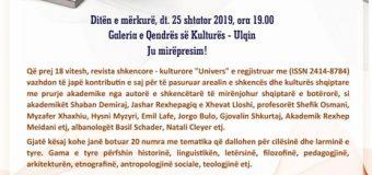 """Revista shkencore -kulturore """"Univers"""" prezantohet në Ulqin"""