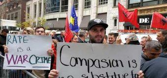 Nju Jork, qindra protestues kundër krimeve serbe