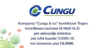 """Kompanija """"Cungu  & Co"""", 10.000€ për TKN në luftën kundër COVID-19"""