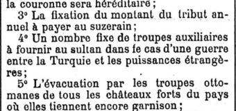 L'UNIVERS (1880) / JA ÇFARË PËRMBAN DOKUMENTI, I FIRMOSUR NGA ALI PASHË GUCIA DHE HODO BEJ SOKOLI NË SHKODËR, MBI REFORMAT E KËRKUARA NGA SHQIPTARËT TE SULLTANI