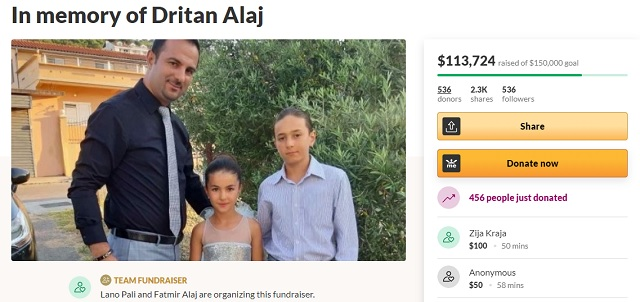 Zemra e madhe e mërgimtarëve – Mbi 113 mijë $ ndihmë familjes Alaj