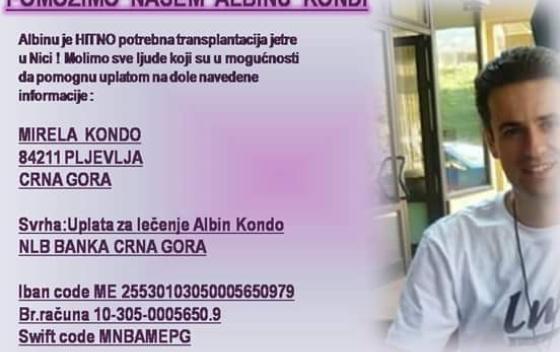 Albin Kondo xhirollogaria per ndihme